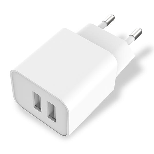 欧规双口USB充电器